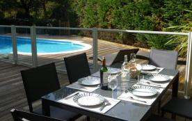 terrasse piscine sécurisée (clôture et volet )
