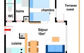 Studio cabine 4 personnes (A004)