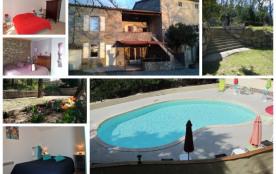 Gites de charme 5/17 pers avec piscine proche de Vallon Pont d'Arc