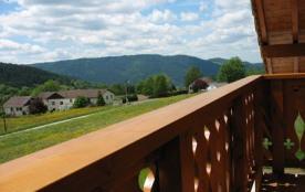 Vue sur la vallé depuis le balcon