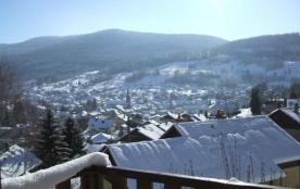 Vue sur le village en hiver