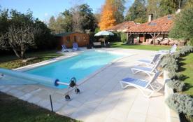 Bergerie 2 à 15 pers Soustons proche Hossegor parc piscine clim