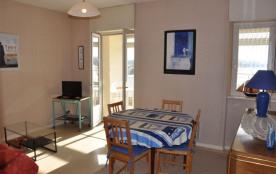 Appartement avec grande terrasse belle vue sur mer, au premier étage Résidence de la Baie.