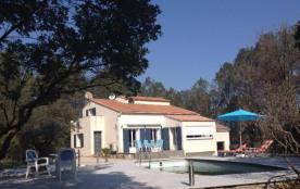 Villa avec piscine chauffée entre mer et cevennes