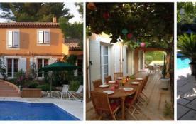 la maison/ la terrasse/ la piscine