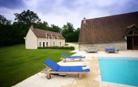 Gîte des Orfeuilles - maison de charme pour 12 pers avec piscine privative dans les châteaux de la Loire - Monthou su...