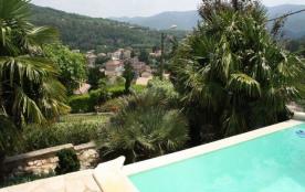 Villa avec piscine à Lamalou Les Bains - Vous vous imaginerez facilement sur cette belle terrasse...