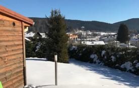 Terrasse avec barbecue ,vu  montagnes