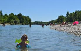 Camping Les plages de l'Ain, 70 emplacements, 25 locatifs
