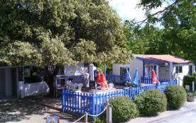 Camping Au Petit Port de l'Houmeau - Chalet Lodge Duo 1ch 2pers + Terrasse Couverte