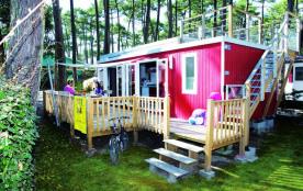 Lodge Solarium, 2 chambres, 4-6 personnes + 1 voiture, 33m² environ + solarium sur le toit 6m² en...