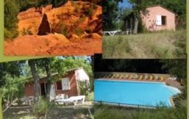 Provence Luberon GITE des OCRES 4 personnes, nature,piscine , wifi, ,rando,animaux acceptés,calme, - Roussillon