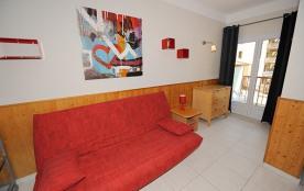 Studio/cabine - 28 m² - 4 personnes - catégorie 2 - balcon - vue sur montagne.