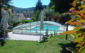 Gîte 3*** Rez de Jardin Piscine Privée Couverte, IDEAL pour les Enfants;  Accueil Vélo - Les Ollières Sur Eyrieux