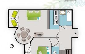 Appartement 3 pièces 6 personnes (50)
