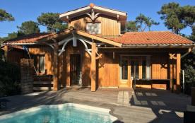 Villa bois 4 chambres et piscine Cap Ferret.