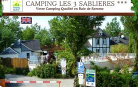 Camping Les 3 Sablières, 97 emplacements, 22 locatifs