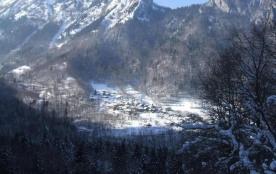 vue du village en hiver. Photo prise depuis la suisse.