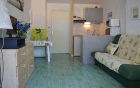Appartement studio avec coin cabine de 22 m² environ pour 4 personnes situé à 400 m de la mer et ...