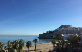 Appartements en 1ère ligne de plage, avec vue mer et château de Peñiscola