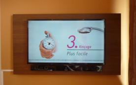 Ecran plat Samsumg 120 cm LCD HD, Barre de son (Iphone, Tablette...), wifi.