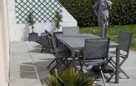 terrasse et salon de jardin