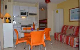 Résidence Le Byblos, appartement studio avec coin cabine de 19 m² environ pour 4 personnes idéale...