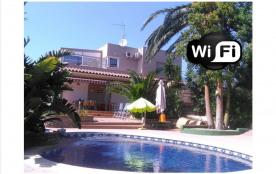Palm Beach - Villa individuelle piscine privée à Rosas (Mas Boscà) pour 8/10 personnes.