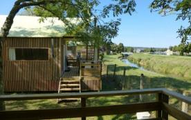 Camping La Cascade, 105 emplacements, 6 locatifs