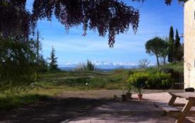 Maison ancienne, situation exceptionnelle en hauteur avec vue sur les Pyrénées