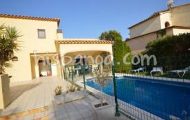 A louer belle villa pour 9 avec piscine privée sur la costa brava |amfo