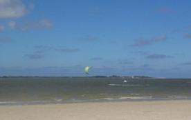 La plage au sortir de l'allée privée
