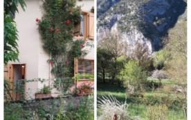 vue sur le jardin et la montagne