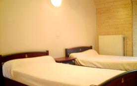 chambre 2 lits 90cm du gîte 9 pers