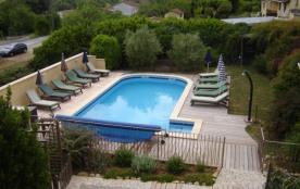 Maison de vacances tout confort avec piscine privée ( 9 pers )