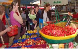 le marché au centre ville