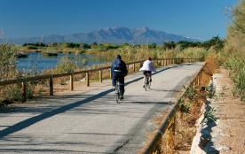 15 km de piste cyclable sur le bord de la rivière l'Agly