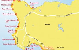 Plan des plages de Pénestin