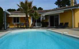 Capbreton (40) - Quartier résidentiel Bouhèbe. Villa avec piscine - 140 m² environ- jusqu'à 8 personnes.