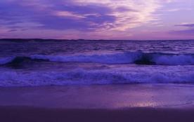 Coucher de soleil sur l'Océan atlantique, à 10 mn de marche