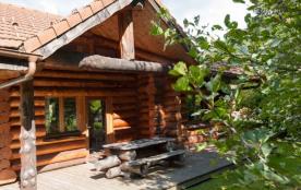 Les Vosges, superbe chalet rondins de standing 8 pers, 85 m², 3 ch, bord de rivière