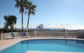 Agréable villa avec piscine privée et vue mer à  Calpe |raelvi