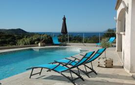 Villa climatisée, piscine, vue imprenable golfe Saint-Florent, plage à 5 min