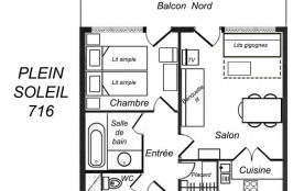 Appartement 2 pièces 5 personnes (716)