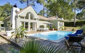 Golf de Biscarrosse villa avec piscine 6 personnes