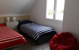 Chambre 1 étage (2 lits simples ou 1 lit double)