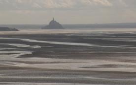 le Mont Saint Michel prit de la maison