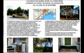 Mobile Home à VILLENEUVE LES MAGUELONE