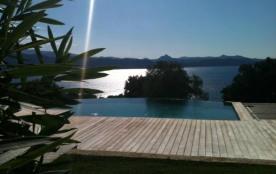 Villa sur 8000m2 vue imprenable golfe de st Florent piscine à débordement