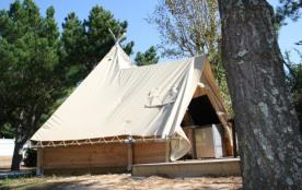 Location de tipis meublés tout confort pour 4 à 6 p./ Camping proche des plages